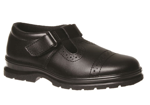 Grosby Exceed Junior Kids Leather Tbar School Shoes