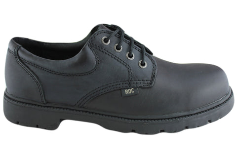 Roc Magnum Older Boys/Mens Black Leather Comfortable School Shoes