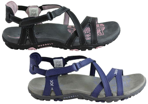 07ad3f4f7a08 Merrell Womens Comfort Flat Supportive Sandspur Rose Leather Sandals ...