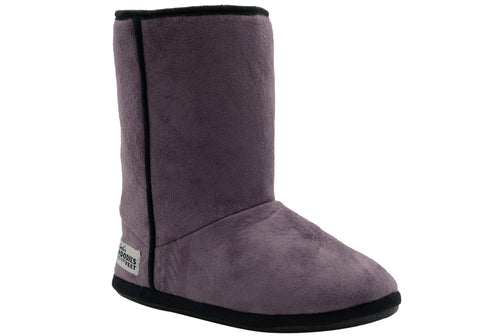Grosby Womens Hoodies Short Boot Indoor Booty Slippers