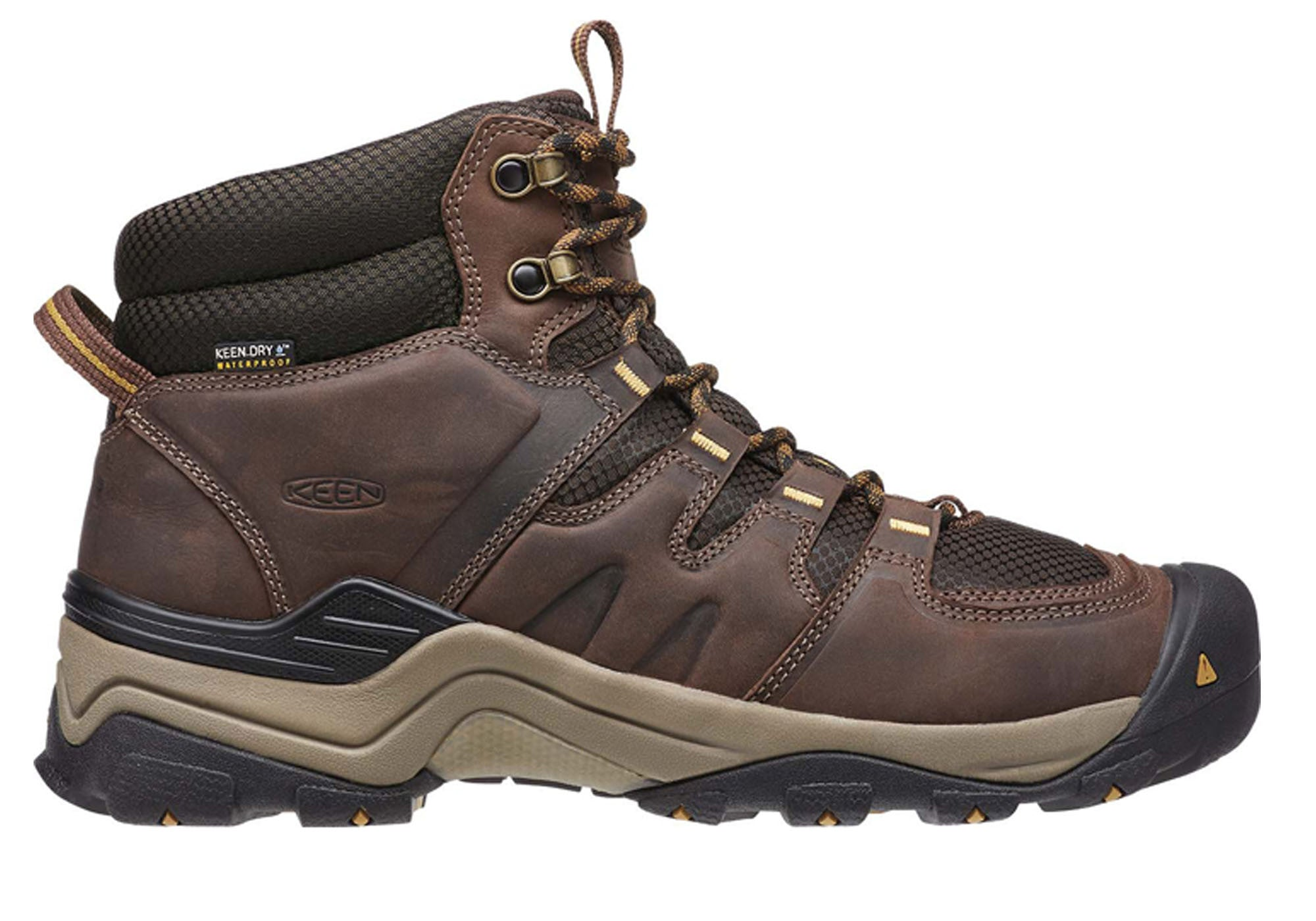 5884206e8be Keen Gypsum II Mid Mens Comfortable Waterproof Wide Fit Hiking Boots ...