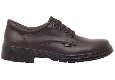 ROC Larrikin Senior Older Girls/Ladies Brown School Shoes