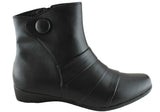 Grosby Emelia Womens Wide Fit Comfortable Ankle Boots