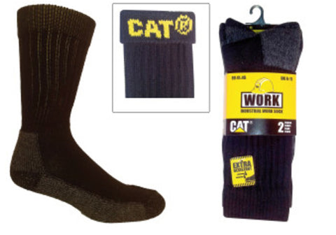2 Pairs of Caterpillar Mens Industrial Work Socks