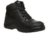 KingGee Tradie Boot Mens Steel Toe Cap Black Work Boots