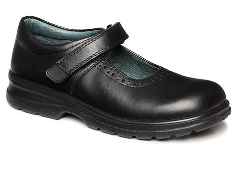 Clarks Laura Girls Mary Jane Black School Shoes