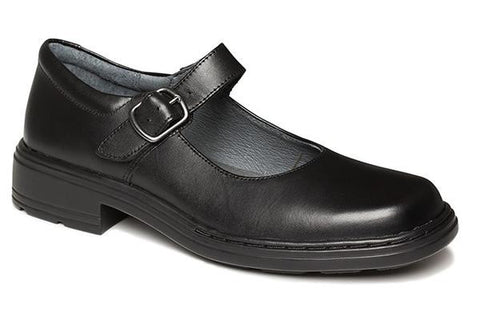 Clarks Intrigue Junior Girls Black Leather School Shoes