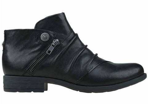 Earth Ronan Womens Comfortable Flat Soft Leather Ankle Boots