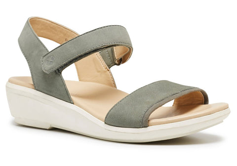 Hush Puppies Xeni Lyricale Womens Leather Comfort Wedge Sandals