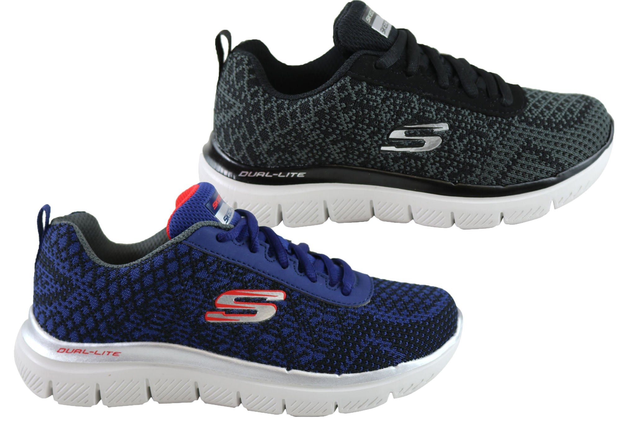 Details about NEW SKECHERS FLEX ADVANTAGE 2.0 GOLDEN POINT BOYS MEMORY FOAM SPORT SHOES
