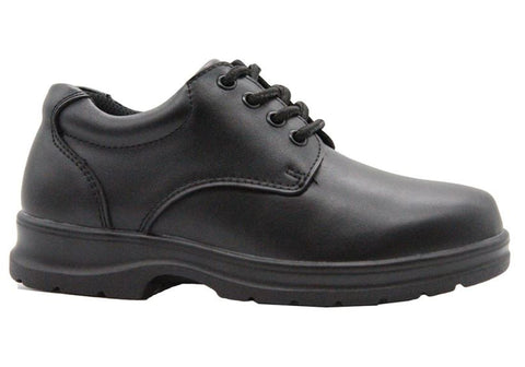 Grosby Educate 2 Womens Comfortable Lace Up Leather School Shoes