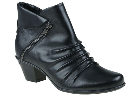 Earth Pegasus Womens Comfortable Mid Heel Leather Ankle Boots
