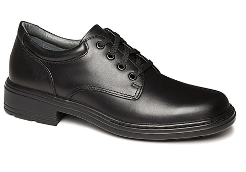 Clarks Infinity Junior Black Leather School Shoes