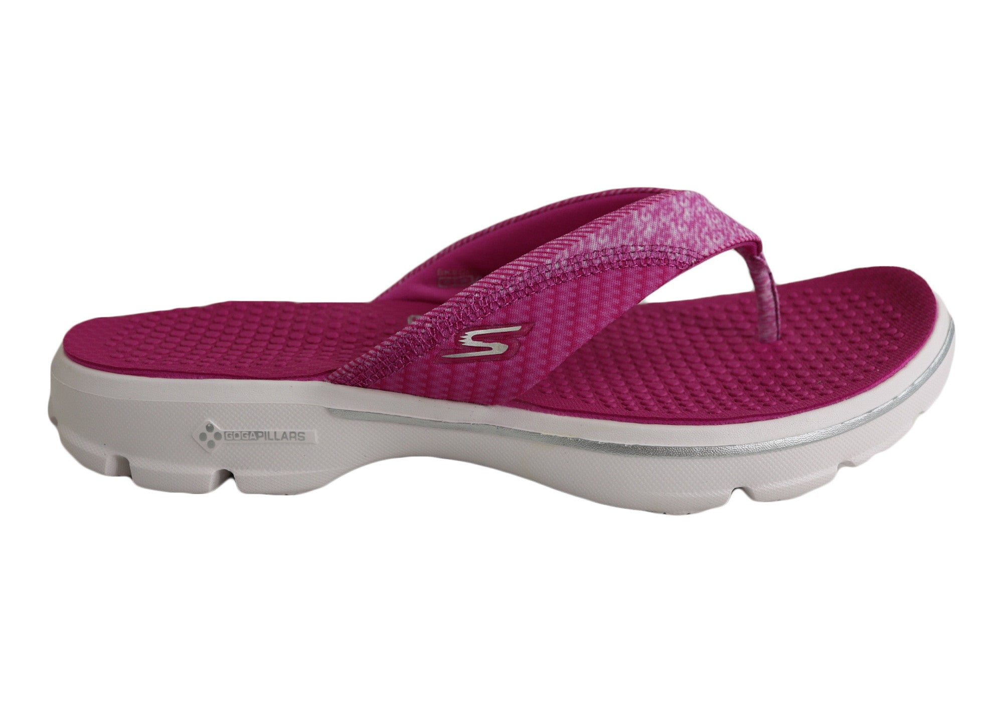 6dce8bd1629d Home Skechers Womens Go Walk Pizazz Comfortable Thongs. Hot Pink · Black ...
