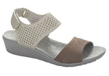 Hush Puppies Mandy Irvine Womens Leather Sandals