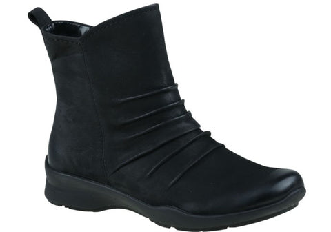 Earth Treasure Womens Comfortable Flat Leather Ankle Boots