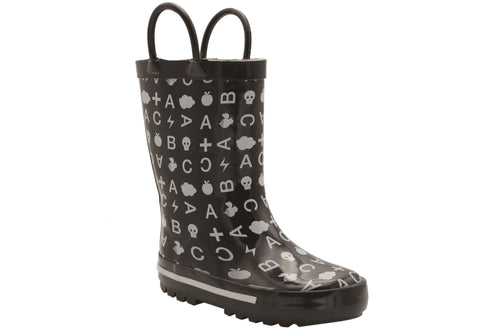Grosby Thunder Junior Kids Rubber Rain Boots