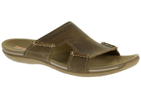 Merrell Bask Slide Mens Comfortable Leather Sandals