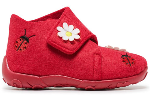 Grosby Ladybug Infant Girls Indoor Slippers