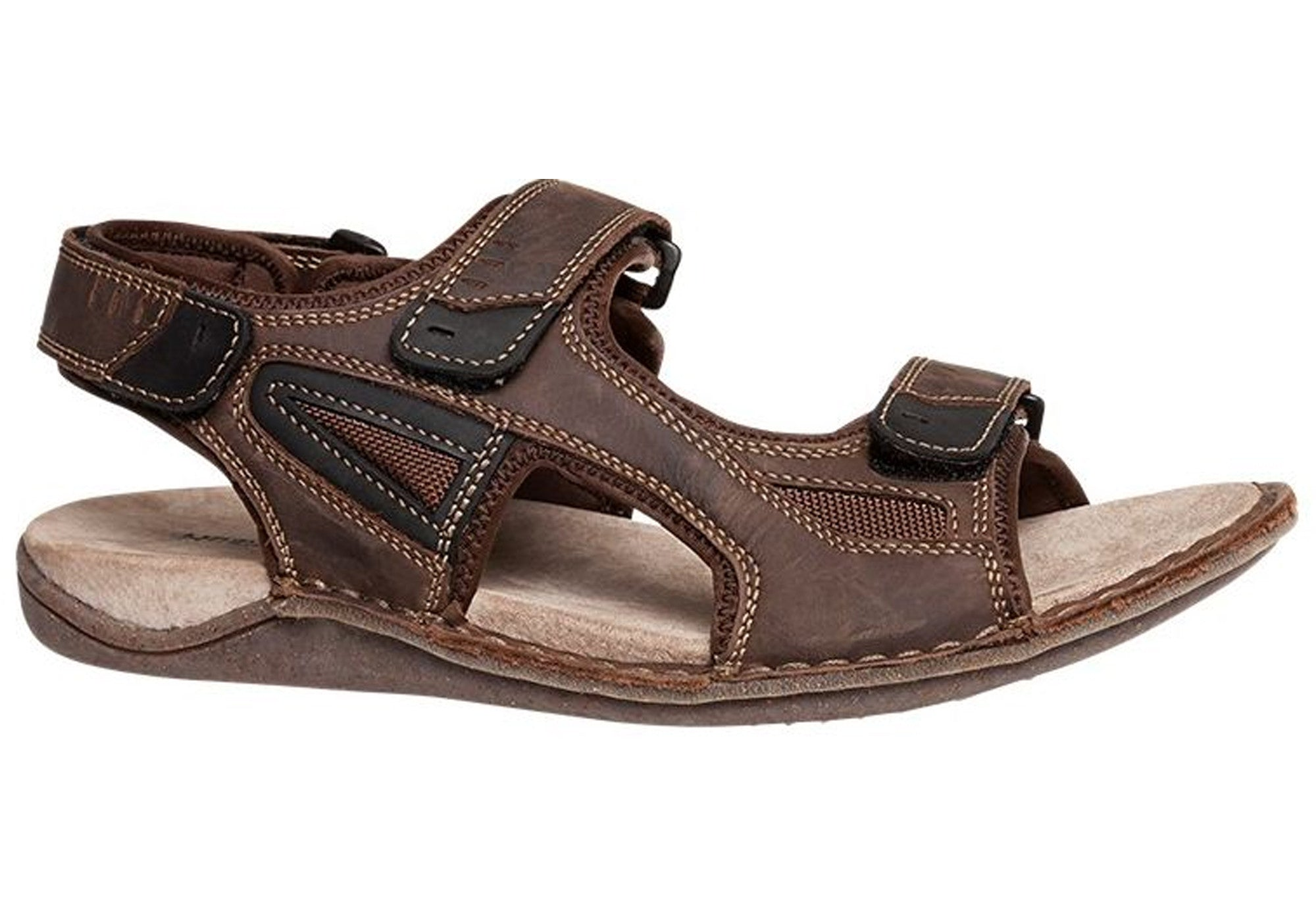0f494b21d Home Hush Puppies Weapon Mens Leather Sandals. Brown · Black · Black