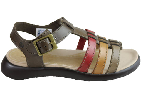 Pegada Kim Womens Comfort Cushioned Leather Sandals Made In Brazil