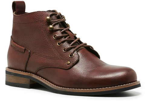 Hush Puppies Trail Mens Leather Lace Up Boots