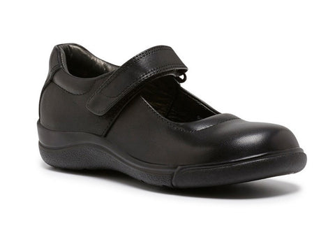 Clarks Petite Kids/Girls Black Mary Jane Leather School Shoes