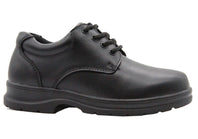 Grosby Educate 2 Senior/Older Boys Mens Leather Lace Up School Shoes