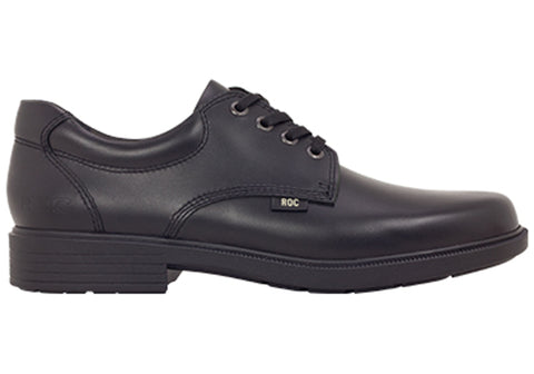ROC Rockford Senior Lace Up Comfortable Leather School Shoes