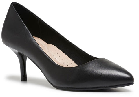 Hush Puppies Suzie Womens Comfort Mid Heel Pointed Toe Pumps