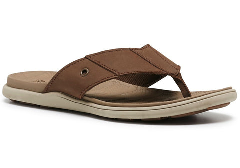 Hush Puppies James Mens Comfortable Leather Thongs
