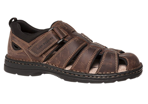 Hush Puppies Sampson Mens Wide Fit Leather Sandals