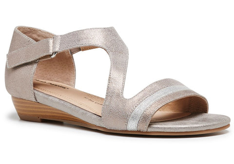 Hush Puppies Fonda Womens Leather Comfort Demi Wedge Sandals