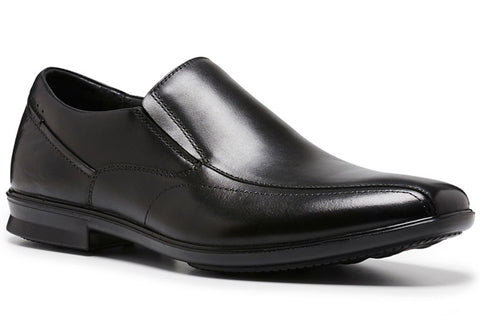 Hush Puppies Callan Mens Waterproof Leather Slip On Dress Shoes