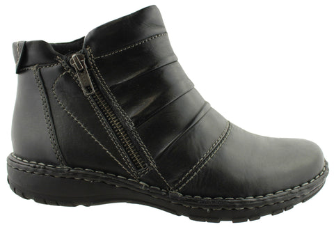 Planet Shoes Lootah Womens Leather Ankle Boots