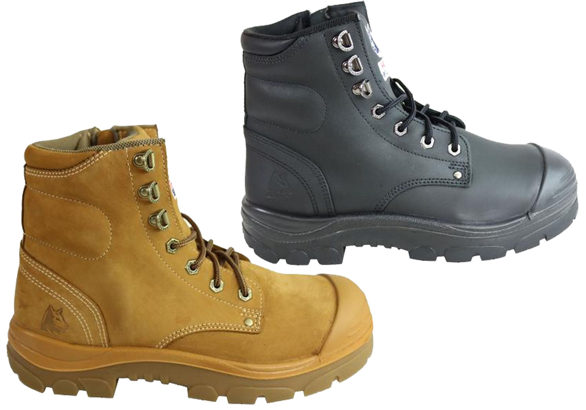 6f2262bdf98 Details about Steel Blue 332152 Argyle Lace Up Work Boot With Zip And Bump  Cap Mens - WWZ