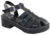 Isabella Brown Side Womens Platform Fisherman Fashion Sandals