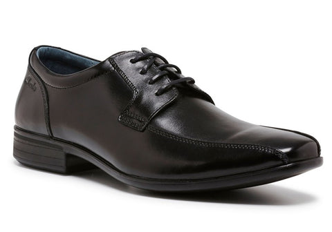 Clarks Camden Senior Boys Black Leather School Shoes