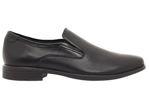 ROC Forum Senior Boys/Mens Comfortable Slip On Leather School Shoes