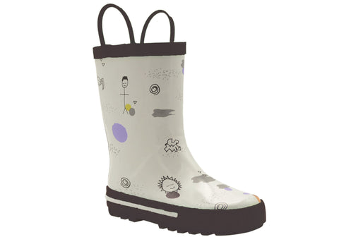 Grosby Journey Junior Kids Rubber Rain Boots