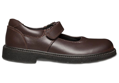 Clarks Rapture Girls Brown Leather Mary Jane School Shoes