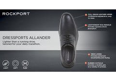 Rockport Allander Mens Leather Lighweight Comfortable Wide Fit Shoes