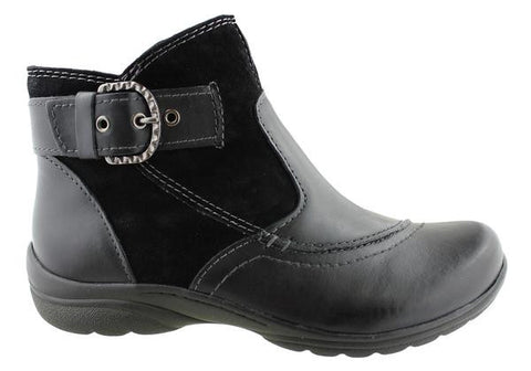 Planet Shoes Franki Womens Leather Comfort Ankle Boots