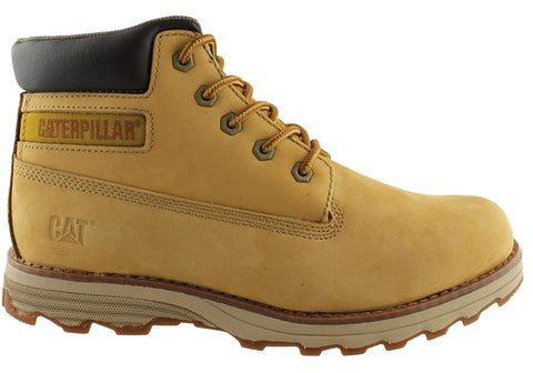 Caterpillar Founder Mens Fashion Wide Fit Lace Up Boots