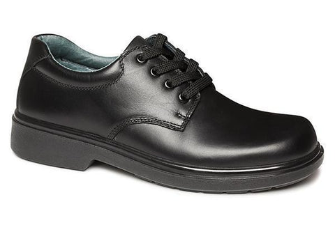 Clarks Daytona Youth & Senior Black Leather School Shoes D Width