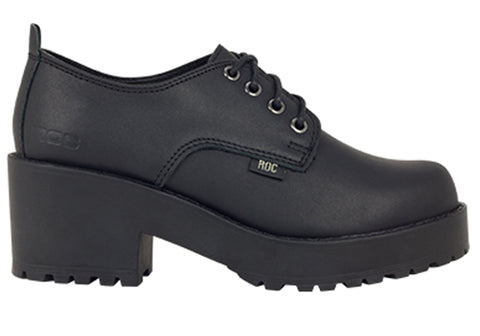 ROC Chickadee Senior Older Girls/Ladies School Shoes With Heels
