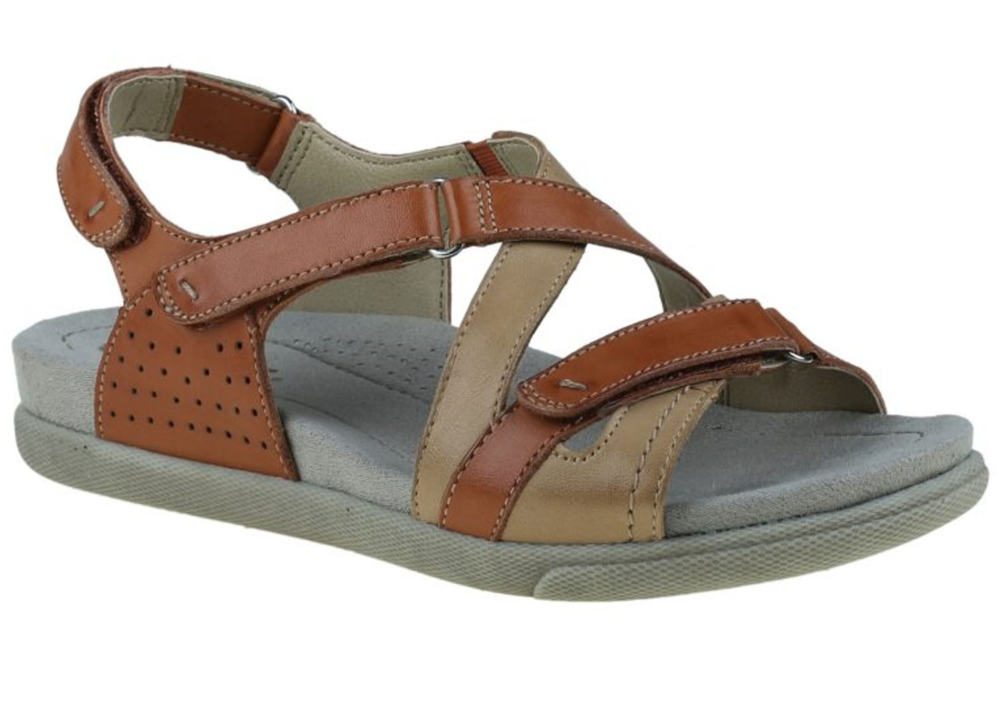 Amazing Shoes Ancor Womens Leather Comfort Sandals Cushioned With Arch Support