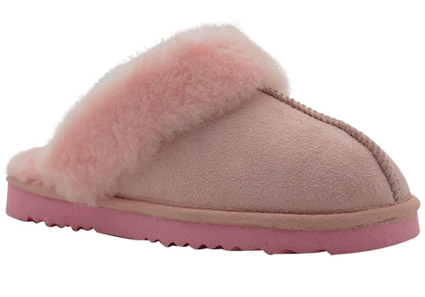 Grosby Scarlett Womens Comfortable Open Back Indoor Slippers