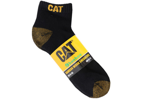 5 Pairs of Caterpillar Mens Bamboo Ankle Socks