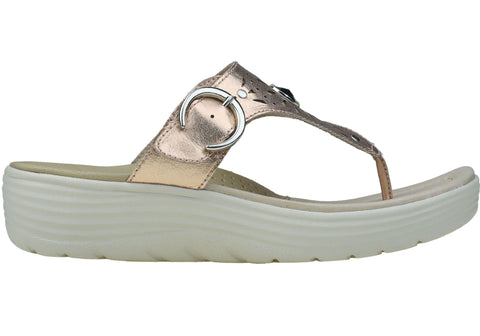 Planet Shoes Milo Womens Leather Comfortable Wedge Sandals Thongs